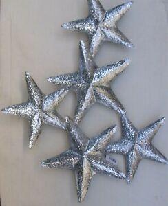 Silver Star Wall Art   Decorative Wall Hanging  Wall Decor  Star Decoration