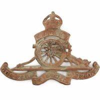 UK Detecting Find - WW1 Royal Artillery Regiment Cap Badge Dug Relic - DE70