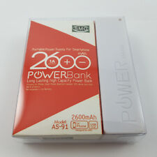 BRAND NEW BOXED 2600 mAh PORTABLE BATTERY POWERBANK USB CONNECTION 1A OUTPUT