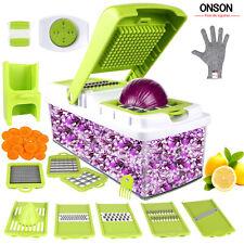 Vegetable Slicer Dicer Weinas Food Chopper Cuber Cutter Cheese Grater Multi Blad