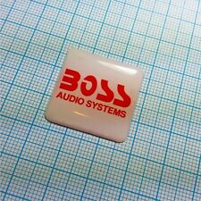 BOSS Audio System - Domed Case Logo Sticker - 1 inch by 1 inch - 25.4mm / 25.4mm