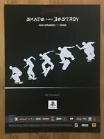 Thrasher: Skate and Destroy PS1 PSX Playstation 1 1999 Poster Ad Art Official