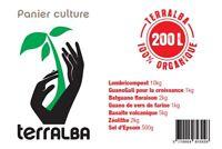 Panier culture POTAGER 20m²-200L : amendements + engrais + mélasse + filtre TCO