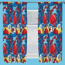 "OFFICIAL SPIDERMAN WEBHEAD CURTAINS 66"" X 54"" KIDS BEDROOM OFFICIAL NEW FREE P+P"