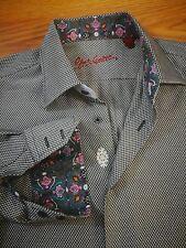 Robert Graham Long Sleeve Shirt~ Flip Cuff ~ Embroidered ~ M