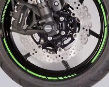 """16 strisce riflettenti ruote moto, ottime su KAWASAKI cerchi 16"""" 17"""" 18"""" VERDE"""