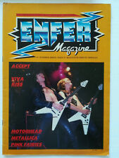 ENFER MAGAZINE n° 7 Accept Motorhead Metallica kiss hard rock heavy metal 1983