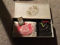 Juicy Couture Pouch wristlet  W Key Chain Vintage Brand New In Box