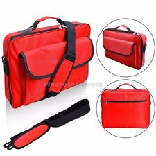 "18"" 18.4"" Inch Laptop Notebook Carrying Messenger briefcase Case Black Red"