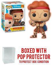 Funko POP Disney CHASE HERCULES #378 GITD  FIGURE Disney's Hercules w/Protector