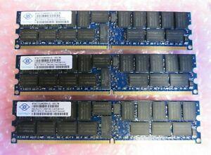 Nanya NT4GT72U4ND0BV-3C 12Gb 3x4GB PC2-5300 DDR2 ECC CL5 240P DIMM Memory