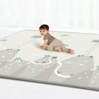 Reversible Kids Activity Mat Baby Children Crawling Care Play Mat Foam Rug 2Side