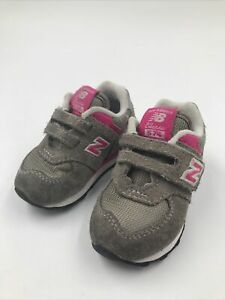 Girl's Baby New Balance Shoes Size 4 Classic 574 Gray