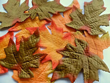 18very large thick Fabric Autumn Maple Leaves 3 Assorted colour craft decor cake