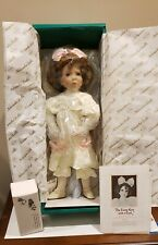 "Dianna Effner ""The Little Girl with a Curl"" Porcelain Doll NIB"