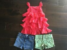 DKNY Girls Clothes 3 piece outfit top/shirt & shorts kid toddler girl's size 4