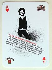 Omar Rodriguez Mars Volta Jim Beam Music Idol Collectors Playing Card 5H