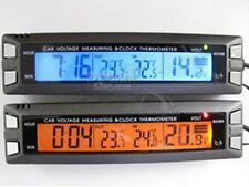 Digital clock In/Out Car Thermometer Voltage Monitor NEW