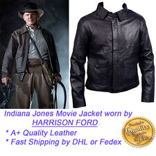 Harrison Ford Indiana Jones Leather Jacket BLACK - REAL SHEEP Leather ,All Size