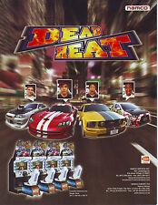 Namco DEAD HEAT Original 2010 NOS Video Arcade Game Promo Sale Flyer Advertising