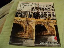 """RARE! CATALOGUE """"VENTE AUX ENCHERES MARC-ARTHUR KOHN, PARIS DROUOT Decembre 2011"""