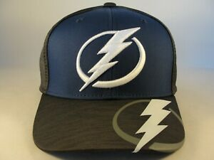 Tampa Bay Lightning NHL Reebok Flex Hat Cap Size S/M Blue Gray