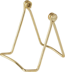 """Bard's Folding Gold-toned Wire Stand, 3"""" H x 2.75"""" W x 3"""" D (Pack of 2)"""
