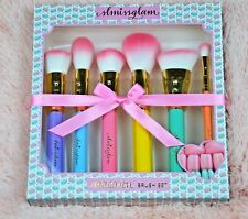 slmissglambeauty - Macaron Glam Brush - 6 makeup multi-pastel color brush set
