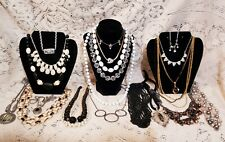 22 Piece Modern and Vintage B&W Mixed Necklace Lot - Napier, Celebrity
