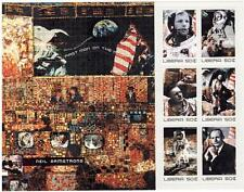 The First Man on the Moon- Neil Armstrong Space Stamp Sheet of 6 Stamps Liberia