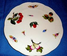 """Herend 10.5"""" Cake/Pastry Plate in Fruits & Flowers Motif #300/FR         i25"""