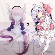 Anime Miss Kobayashi's Dragon Maid Kanna Kamui Full Wig Cosplay Long Hair Wigs