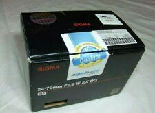 scatola vuota Box empty Sigma 24-70 f2,8 IF EX DG HSM per Nikon no obiettivo