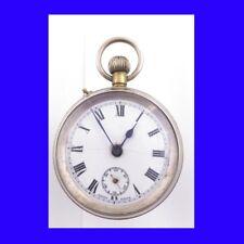Rare Silver Swiss  Roskopf  Patent  Pocket Watch 1910