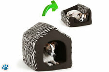 Pet Dog Cat Dome Bed Kitten Cave Cubby Basket Sofa Crate Kennel Rabbit Pup
