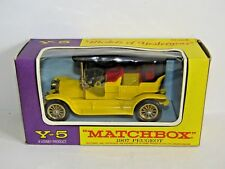 MATCHBOX MODELS OF YESTERYEAR 1907 PEUGEOT YELLOW Y-5 1/43