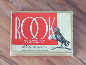 VINTAGE ROOK CARD GAME BY PARKER BROTHERS 1943 RAVEN COMPLETE IN GOOD CONDITION!
