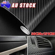 50cm x1.51M Black 4D Gloss Carbon Fibre Fiber Car Vinyl Wrap Air Release Film OZ