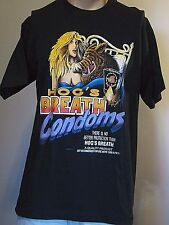 TRUE VINTAGE 1990's HOG'S BREATH CONDOMS KEY WEST 2-SIDED T-SHIRT LG RUBBER SEX