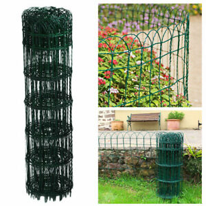 950mm Garden Border Fence Green PVC Coated Wire Lawn Path Edge Decorative Fence