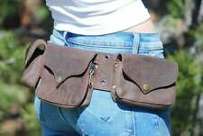 Leather Utility Belt Men, Festival Waist Pack Brown, Belt Bag Leather, Hip Bag