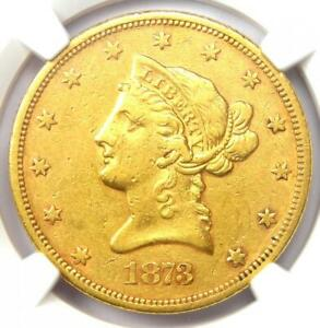1873-S Liberty Gold Eagle $10 - Certified NGC XF Detail (EF) - Rare Date Coin!