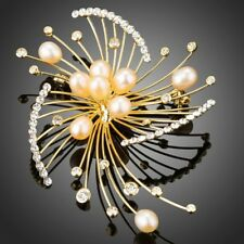 Fireworks Design with Pearls Scarf Brooch Hijab Pin for Women Girls KB0046