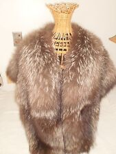 RARE BADGER REAL LONG FUR ELEGANT STOLE WRAP LONG HOLLYWOOD GLAM WOLVERINE FOX