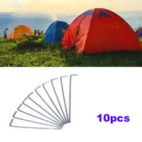 10pcTravel Durable Camping Steel Hiking Heavy Duty Ground Nail Tent Accessories/