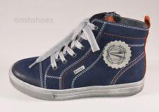 Richter Boys 7201 SymaTex Blue Suede Zip & Lace Boots UK 1 EU 33 RRP £59