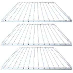 3 X DAEWOO Fridge Shelf White Plastic Coated Adjustable Freezer Rack