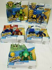 Stretch Armstrong-Flex Fighters-Netflix-Lot of 5 with Omni-Mass,Wingspan,Monster