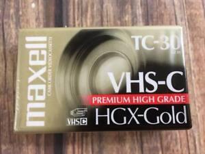 Maxell TC 30 VHS C Camcorder Videocassette 1 Tape HGX Gold Premium High Grade