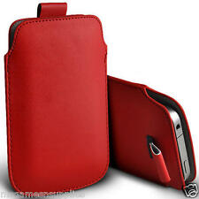 """Red PU Synthetic Leather Pouch / Sleeve Protective Case for iPhone 6 6G 4.7"""" NEW"""